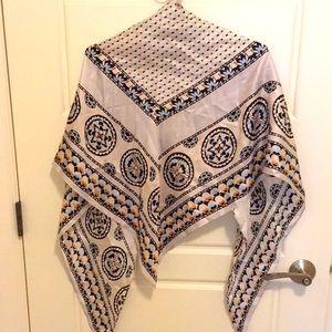 Echo silk scarf - large, triangular, NWOT